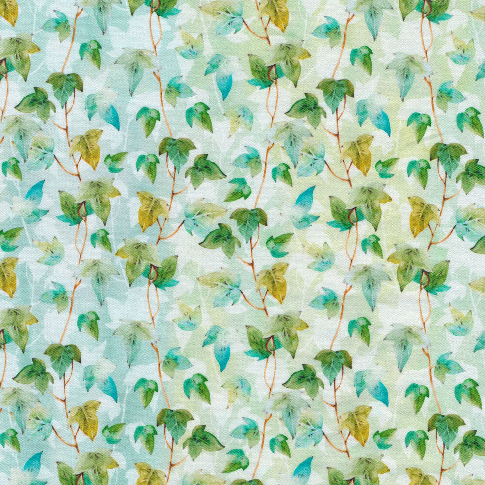 Green leaves and vines | Shabby Fabrics