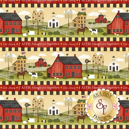 The Way Home 82497-739 Repeating Stripe Multi by Jennifer Pugh for Wilmington Prints REM C