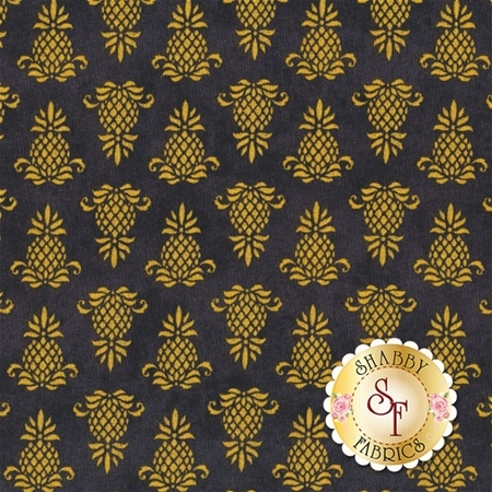 The Way Home 82502-955 Pineapple Icon Black by Jennifer Pugh for Wilmington Prints