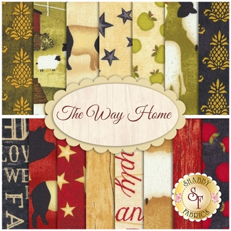 The Way Home  15 FQ Set by Wilmington Prints