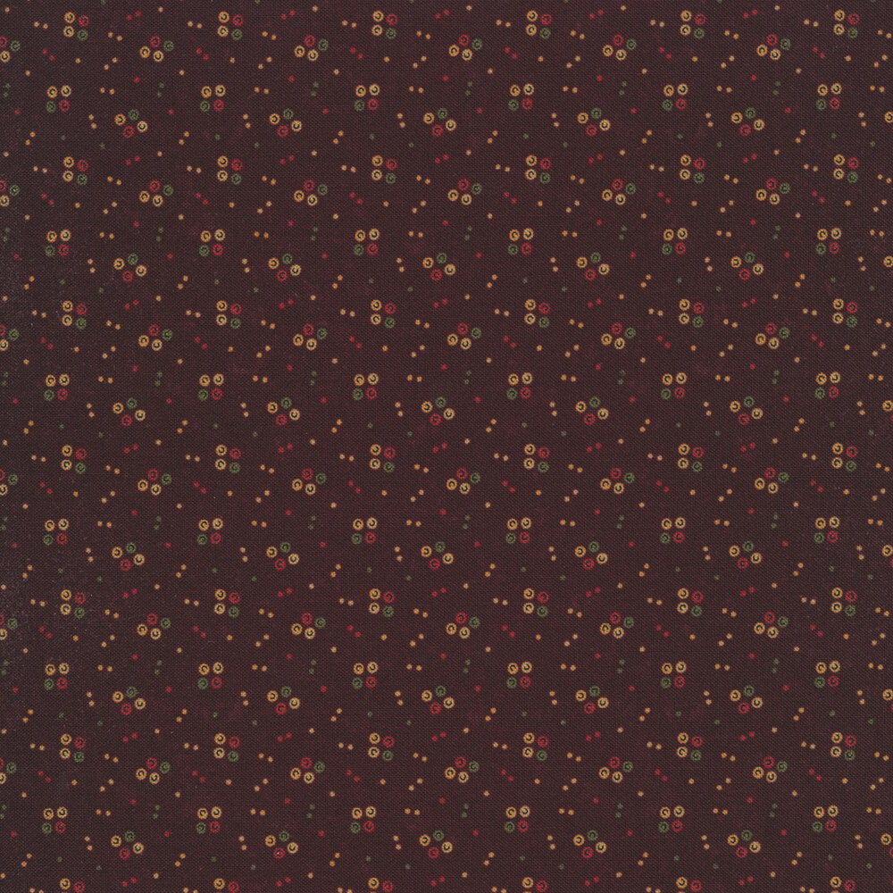 Multi colored spots on a purple distressed background   Shabby Fabrics