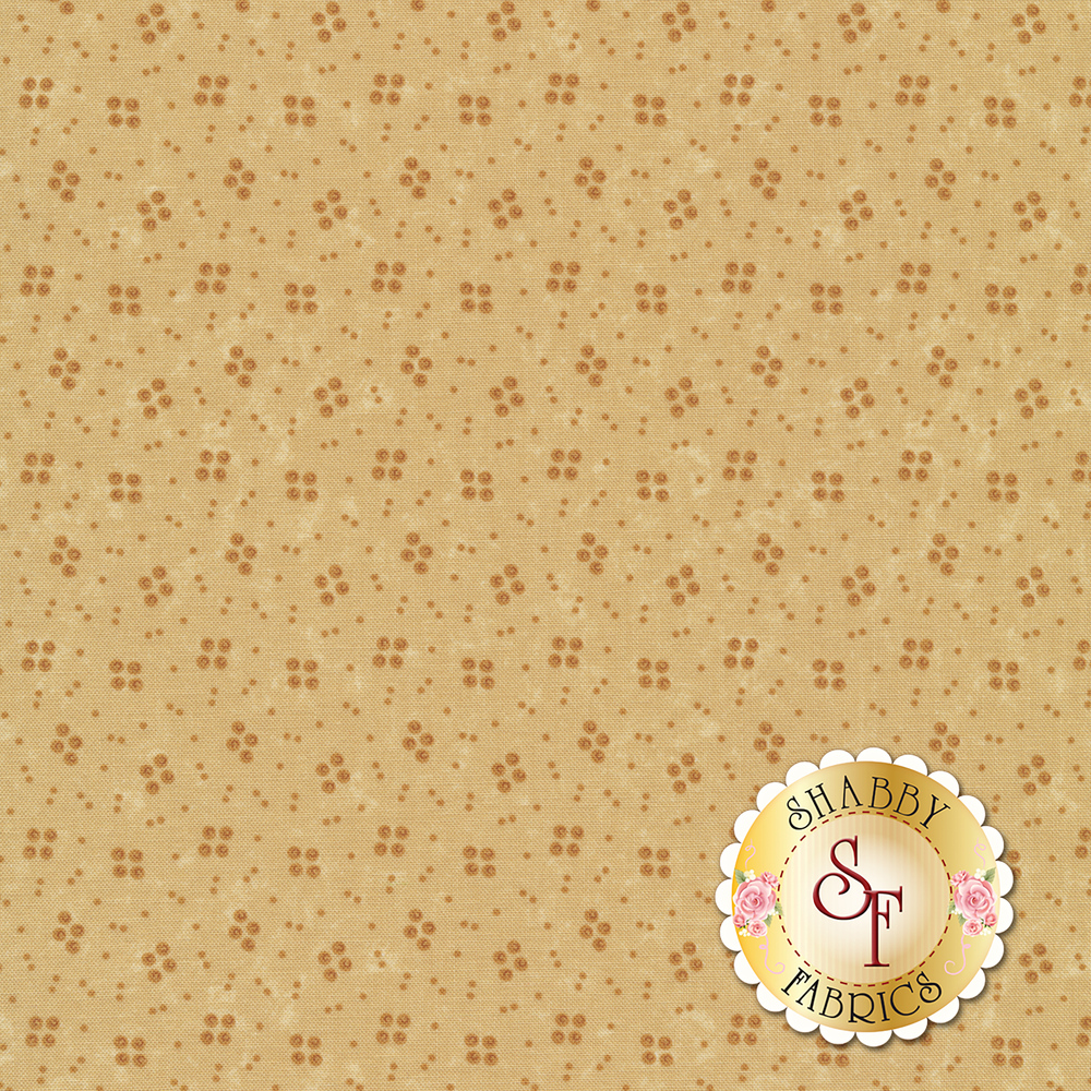 Tonal spots on a distressed tan background | Shabby Fabrics