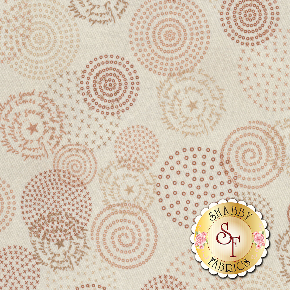 Tickled Pink  2234-44 Cream for Henry Glass Fabrics