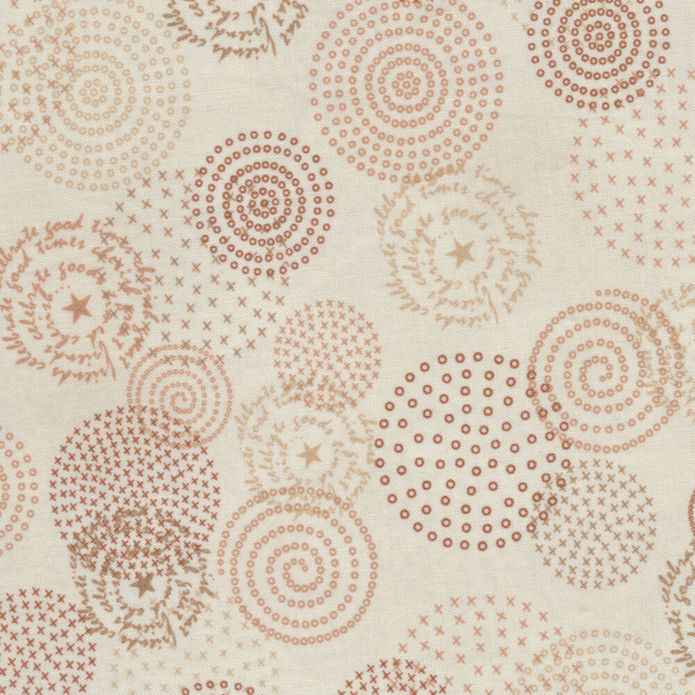Tickled Pink  2234-66 Cream for Henry Glass Fabrics