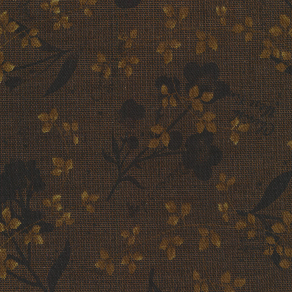 Tickled Pink 2236-38 Brown for Henry Glass Fabrics