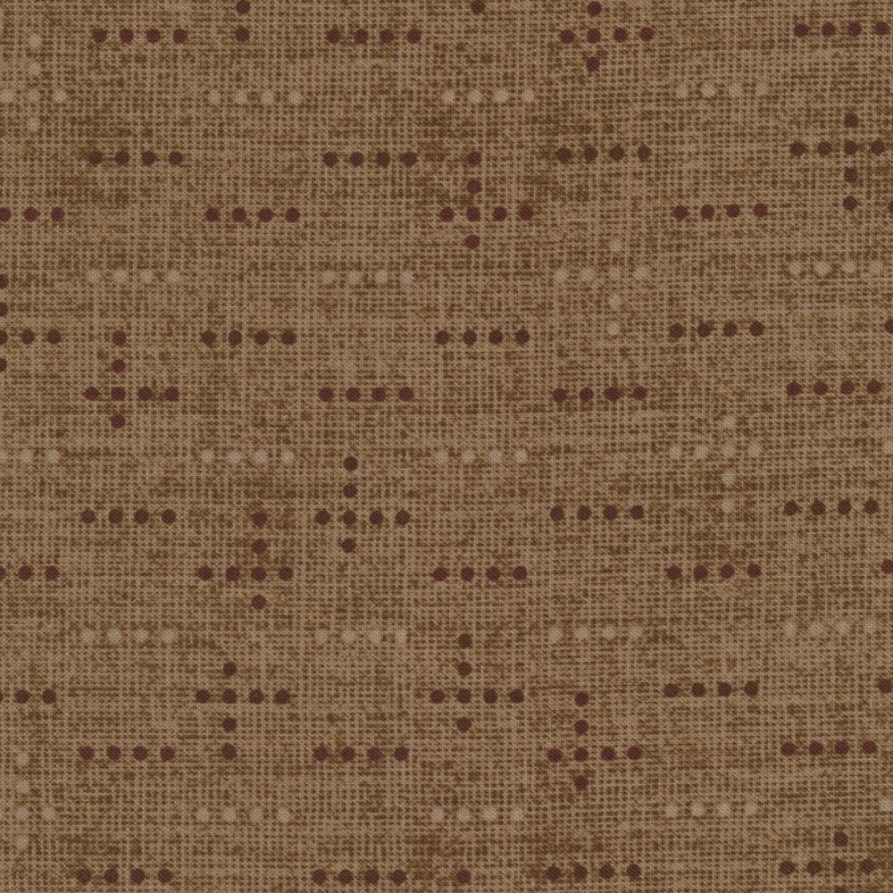 Tickled Pink 2237-38 Cocoa Dot Weave for Henry Glass Fabrics