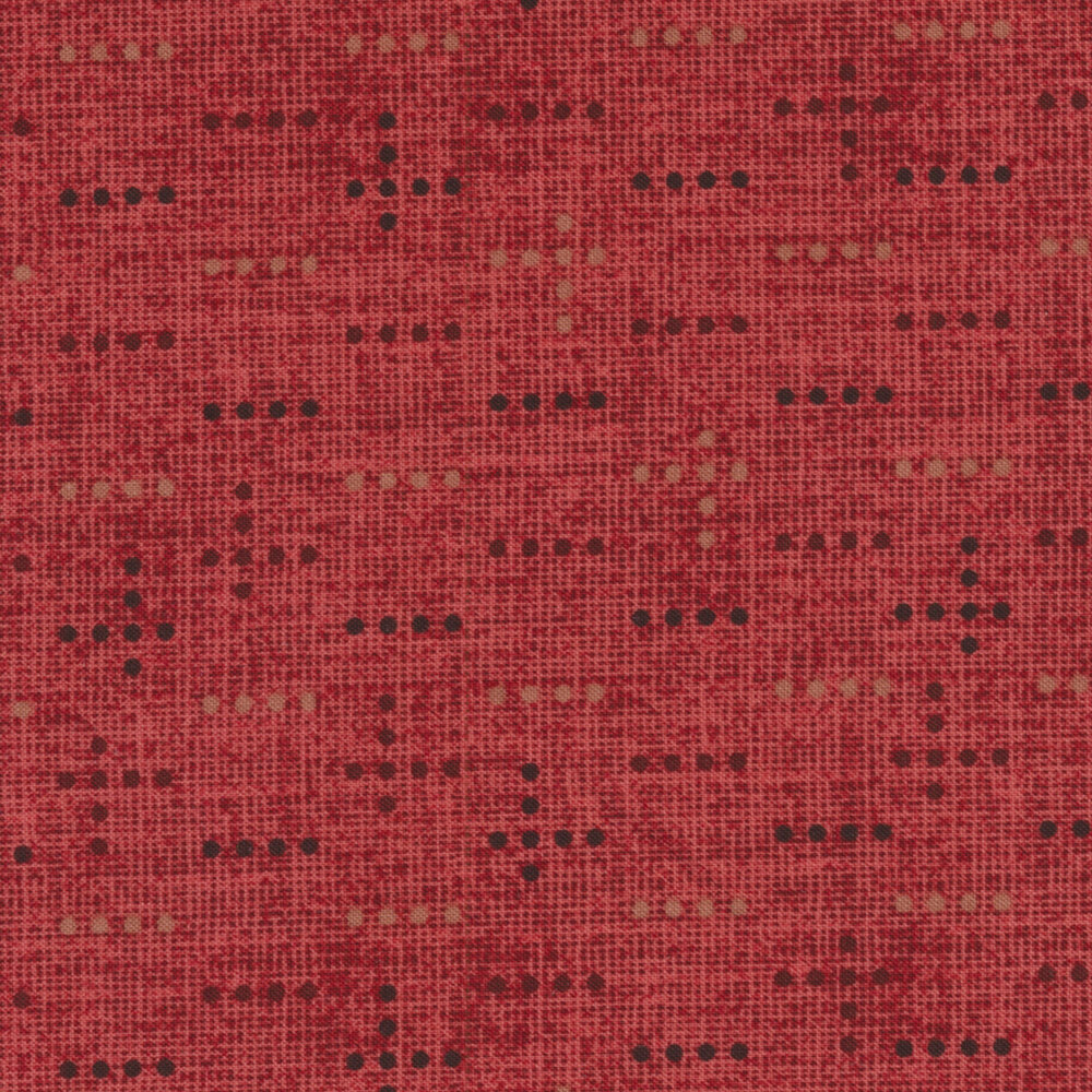 Tickled Pink 2237-88 Red Dot Weave for Henry Glass Fabrics