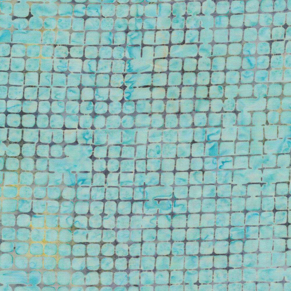 Geometric aqua batik | Shabby Fabrics