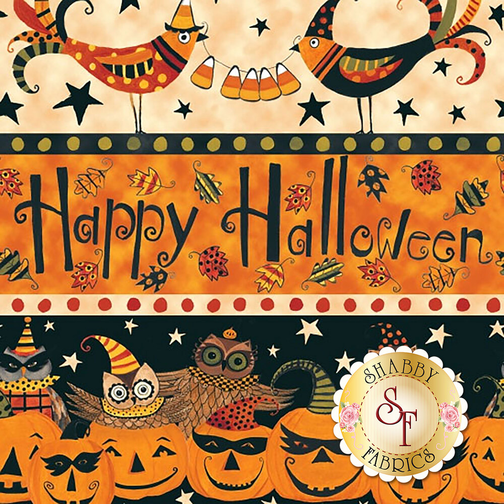 Too Cute To Spook 9110-41 Border Stripe by Blank Quilting Corporation
