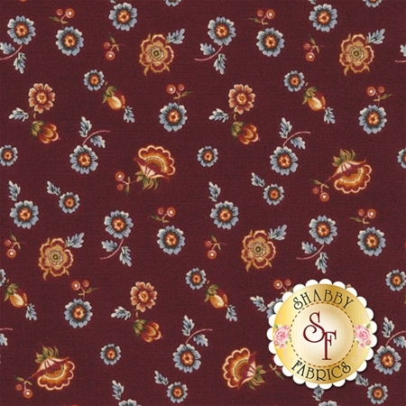 Torrington 3854-19 Hamden Claret by Dover Hill Studio for Benartex Fabrics