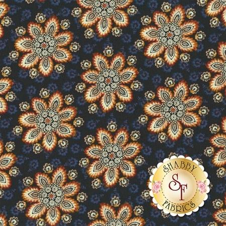 Torrington 3855-55 Meriden Dark Blue by Dover Hill Studio for Benartex Fabrics