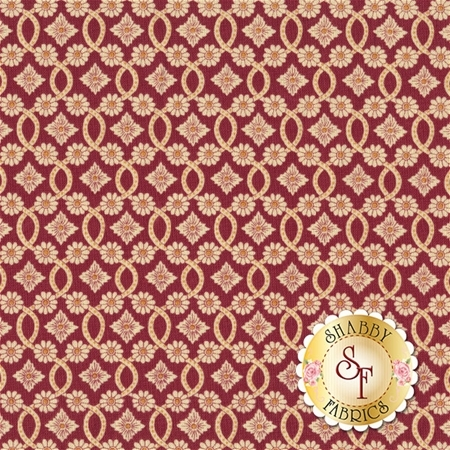 Torrington 3856-19 Trumball Claret by Dover Hill Studio for Benartex Fabrics