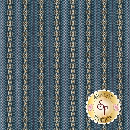 Torrington 3858-50 Simsbury Prussian by Dover Hill Studio for Benartex Fabrics