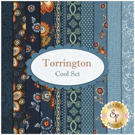 Torrington  10 FQ Set - Cool Set by Dover Hill Studio for Benartex Fabrics