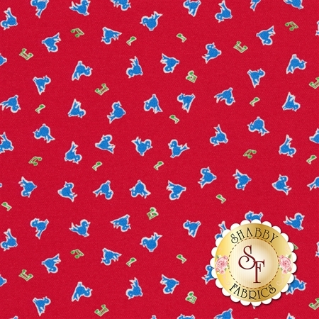 Toy Chest 3 C6760-RED by Penny Rose Fabrics
