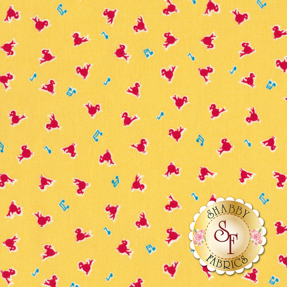 Toy Chest 3 C6760-YELLOW by Penny Rose Fabrics