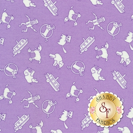 Toy Chest 3 C6765-PURPLE by Penny Rose Fabrics