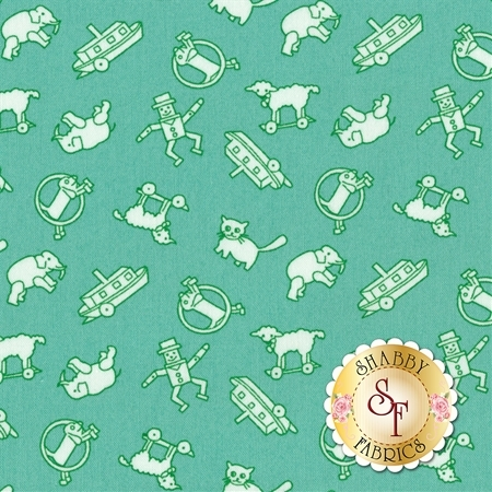 Toy Chest 3 C6765-TEAL by Penny Rose Fabrics