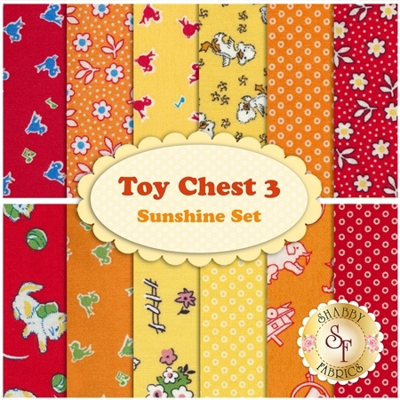 Toy Chest 3  12 FQ Set - Sunshine Set by Penny Rose Fabrics