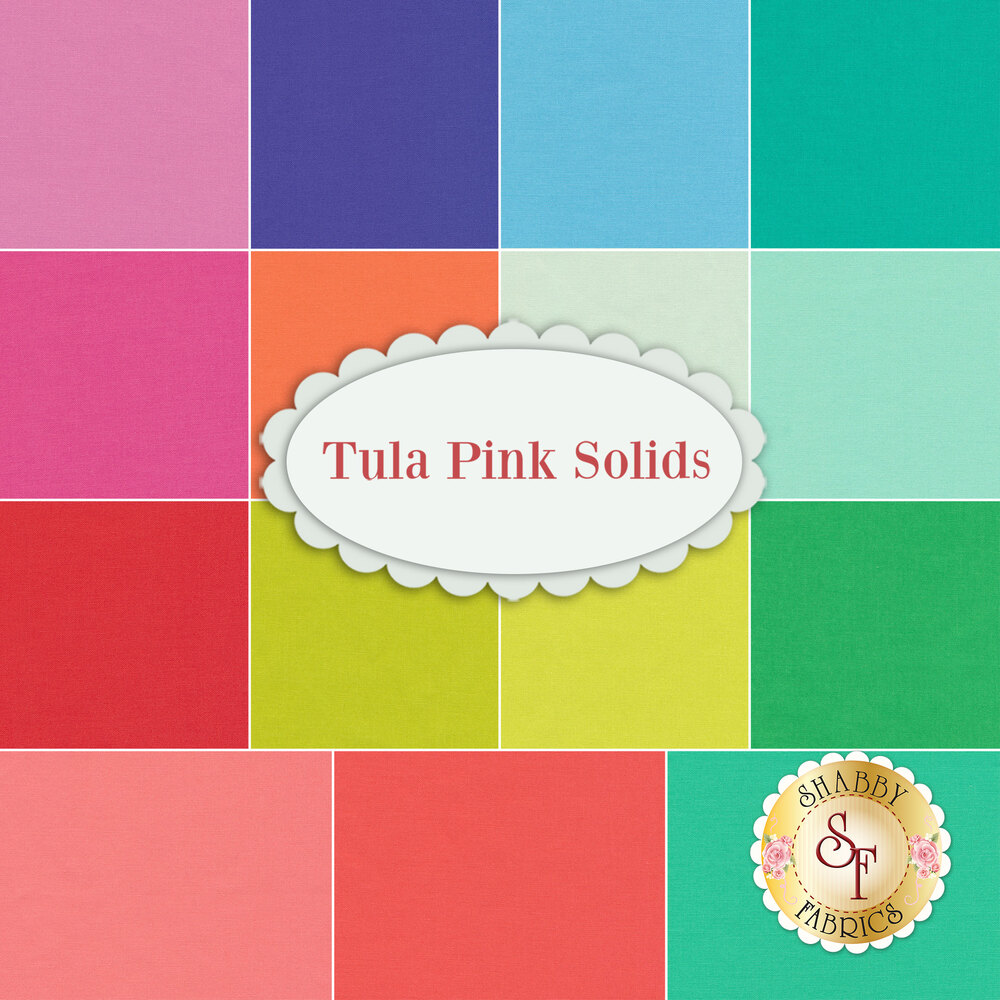Tula Pink Solids  15 FQ Set by Tula Pink available at Shabby Fabrics