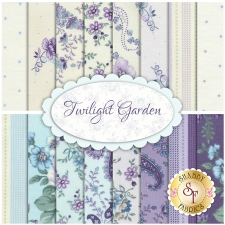 Twilight Garden  16 FQ Set by Henry Glass Fabrics