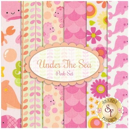 Under The Sea  6 FQ Set - Pink Set by Doodlebug Design inc. for Riley Blake Designs