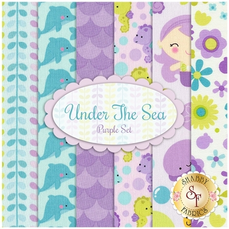 Under The Sea  6 FQ Set - Purple Set by Riley Blake Designs