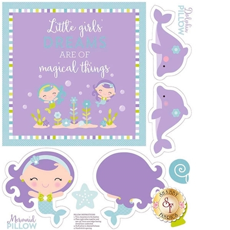Under The Sea P5967-PURPLE Sea Panel Purple by Doodlebug Design inc. for Riley Blake Designs