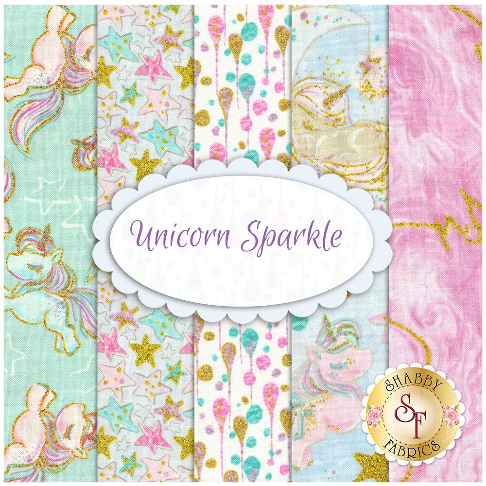 Unicorn Sparkle  Yardage by 3 Wishes for Fabric Editions, Inc.| Shabby Fabrics