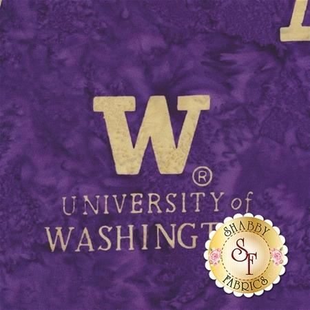 University of Washington Batik Q2160-367 by Hoffman Fabrics
