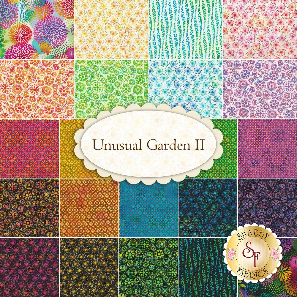 Unusual Garden II 1UGB-1 Multi Black Butterfly Panel by In The Beginning Fabrics | Shabby Fabrics
