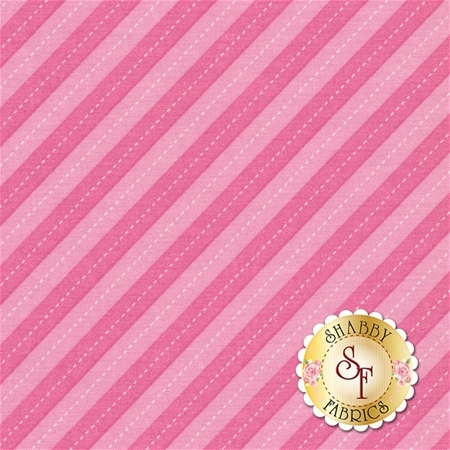 Up And Away DC7199-PINK-D Balloon Stripe by Emily Herrick for Michael Miller Fabrics