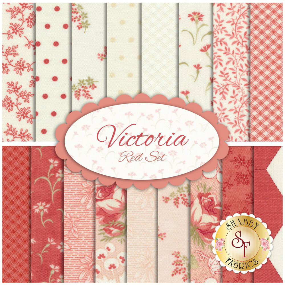 Victoria  17 FQ Set - Red Set by 3 Sisters for Moda Fabrics