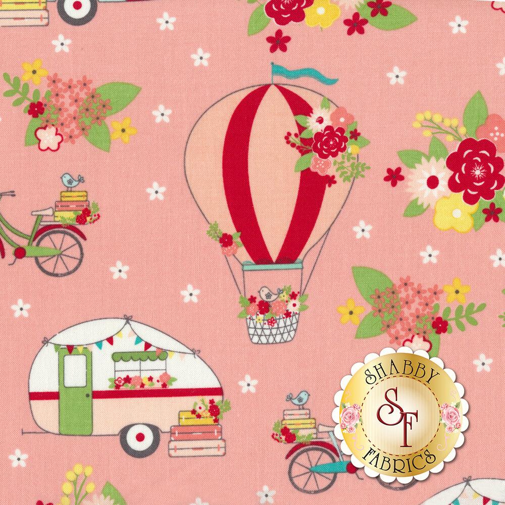 Vintage Adventure C7270-PINK Main Pink by Riley Blake Designs