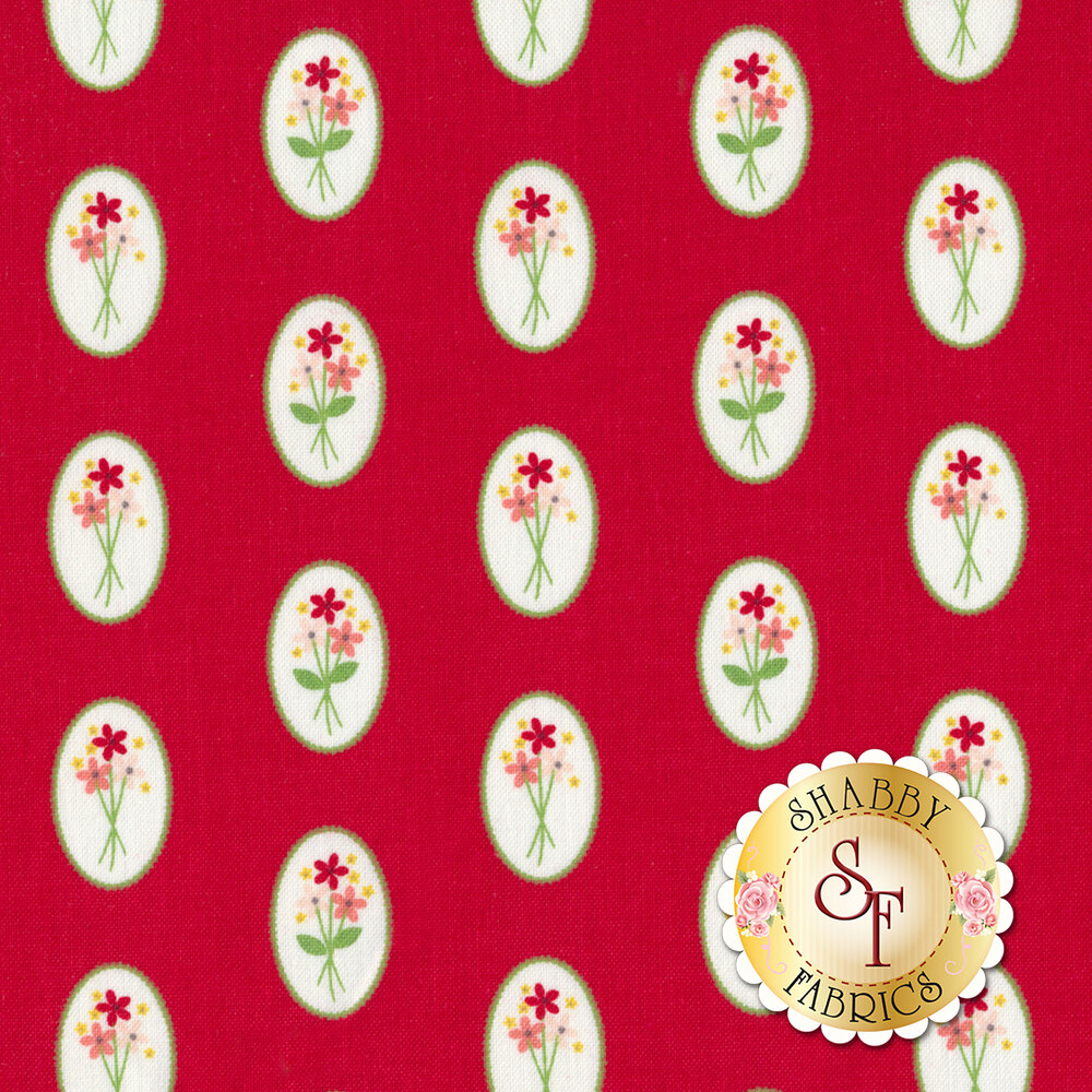 Vintage Adventure C7273-RED Cameo Red by Riley Blake Designs