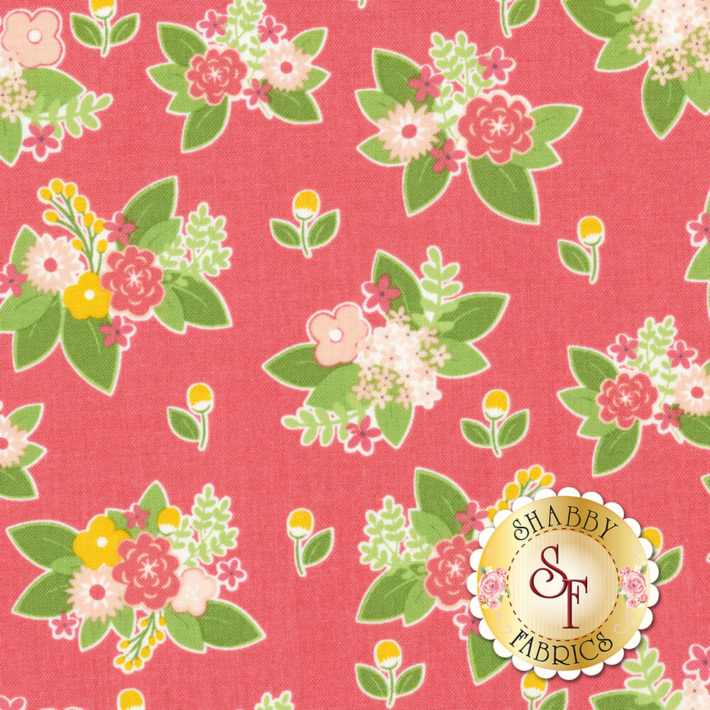 Vintage Adventure C7274-PINK Floral Pink by Riley Blake Designs