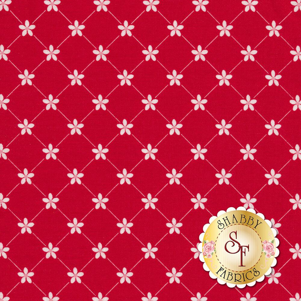 Vintage Adventure C7276-RED Trellis Red by Riley Blake Designs