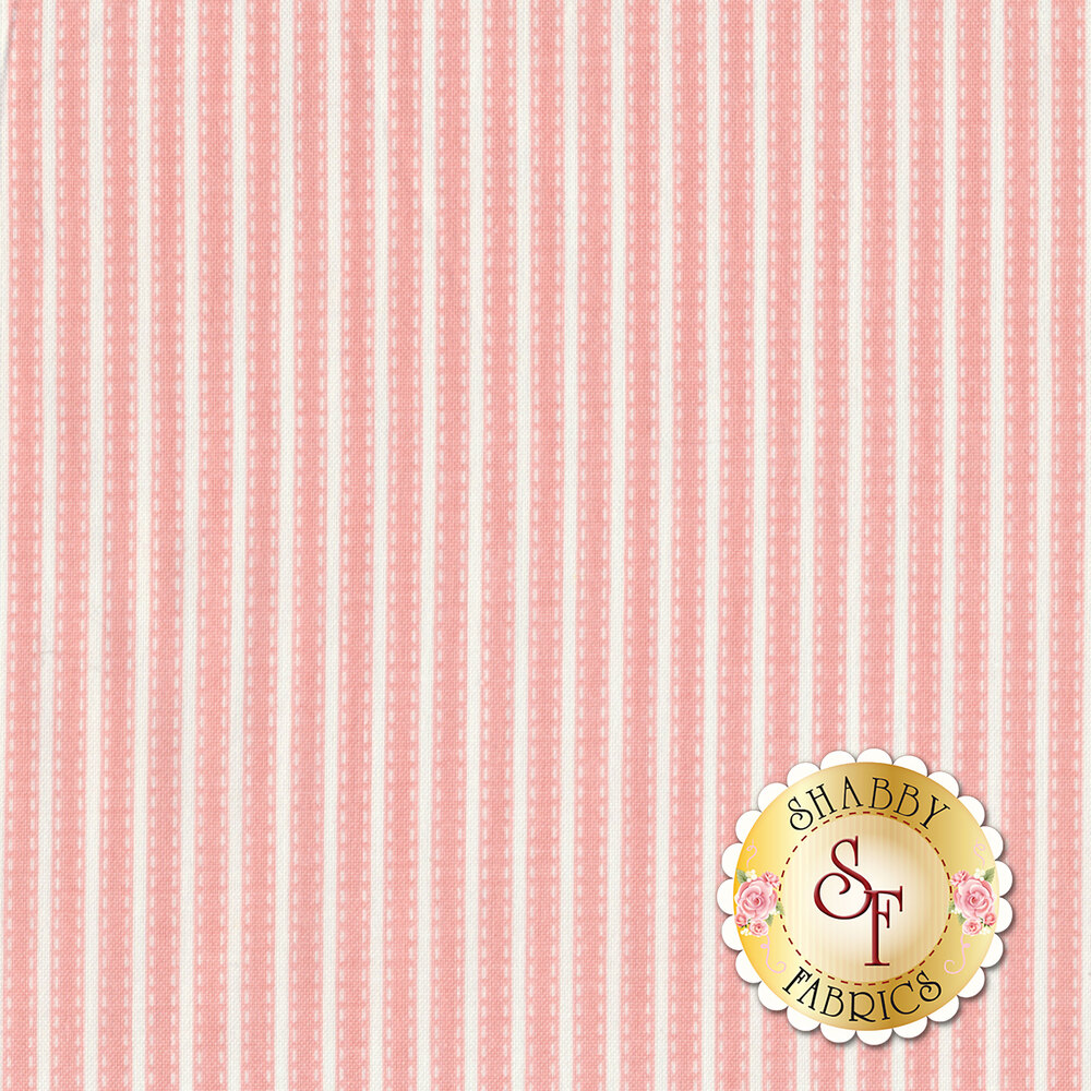 Vintage Adventure C7277-PINK Stripe Pink by Riley Blake Designs
