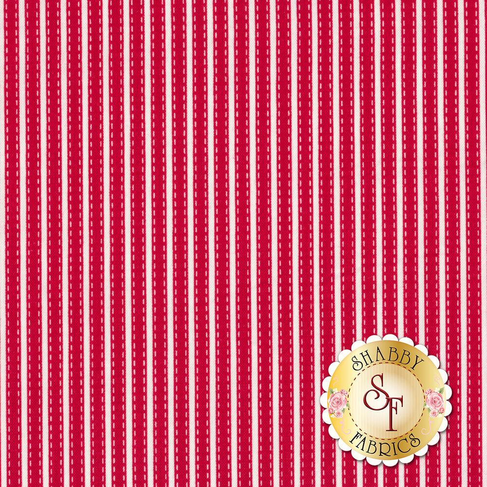 Vintage Adventure C7277-RED Stripe Red by Riley Blake Designs