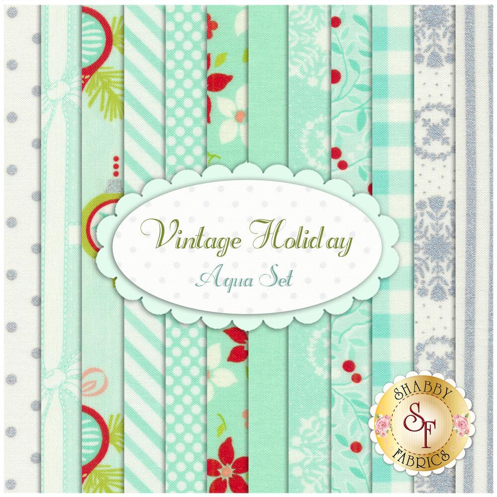 Vintage Holiday  12 FQ Set - Aqua Set by Bonnie & Camille for Moda Fabrics