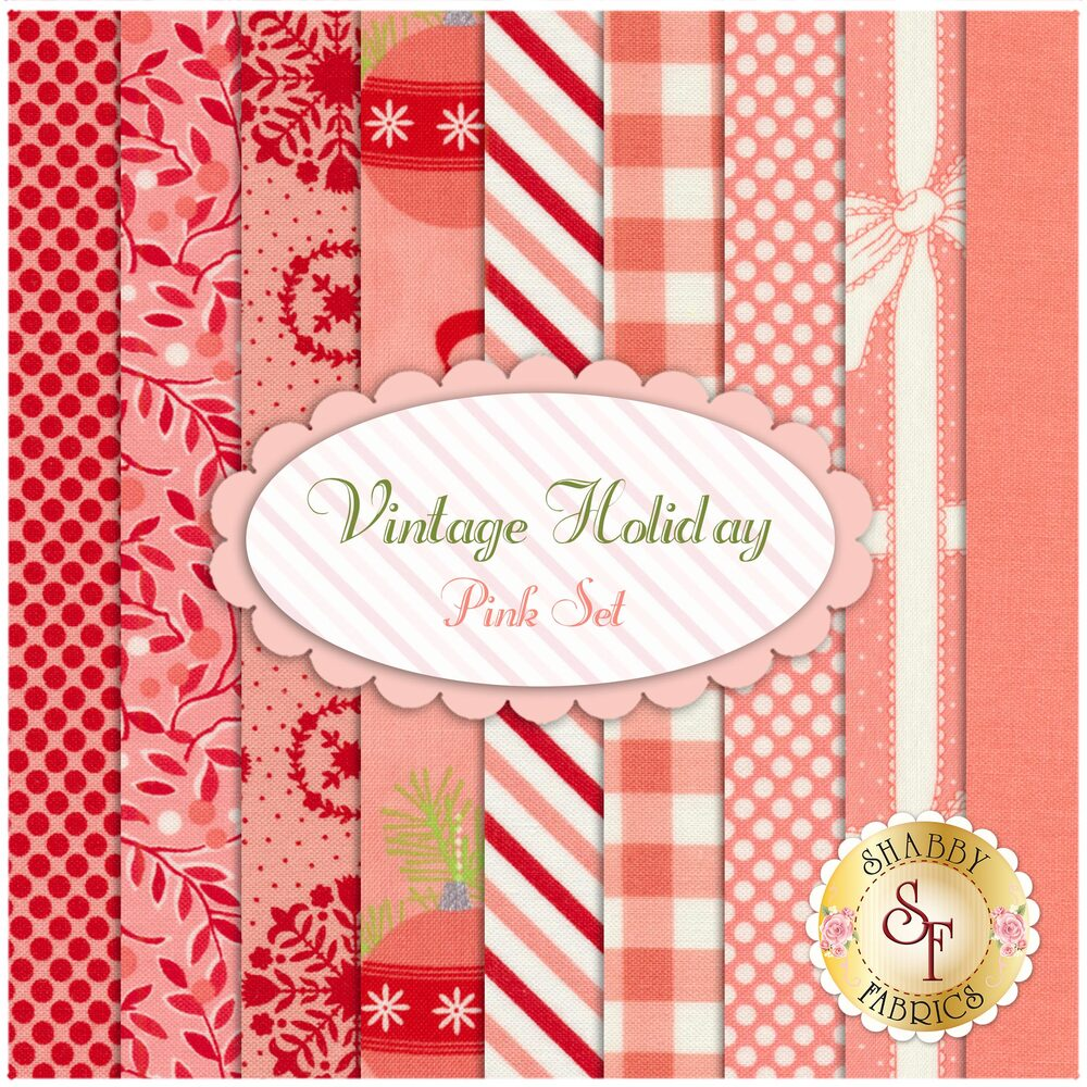 Vintage Holiday  9 FQ Set - Pink Set by Bonnie & Camille for Moda Fabrics