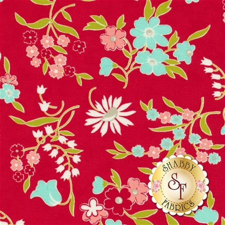 Vintage Picnic 55125-11 Red by Bonnie & Camille for Moda Fabrics