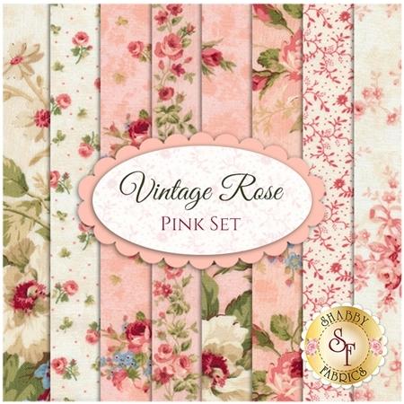 Vintage Rose  8 FQ Set - Pink Set by Deborah Edwards for Northcott Fabrics