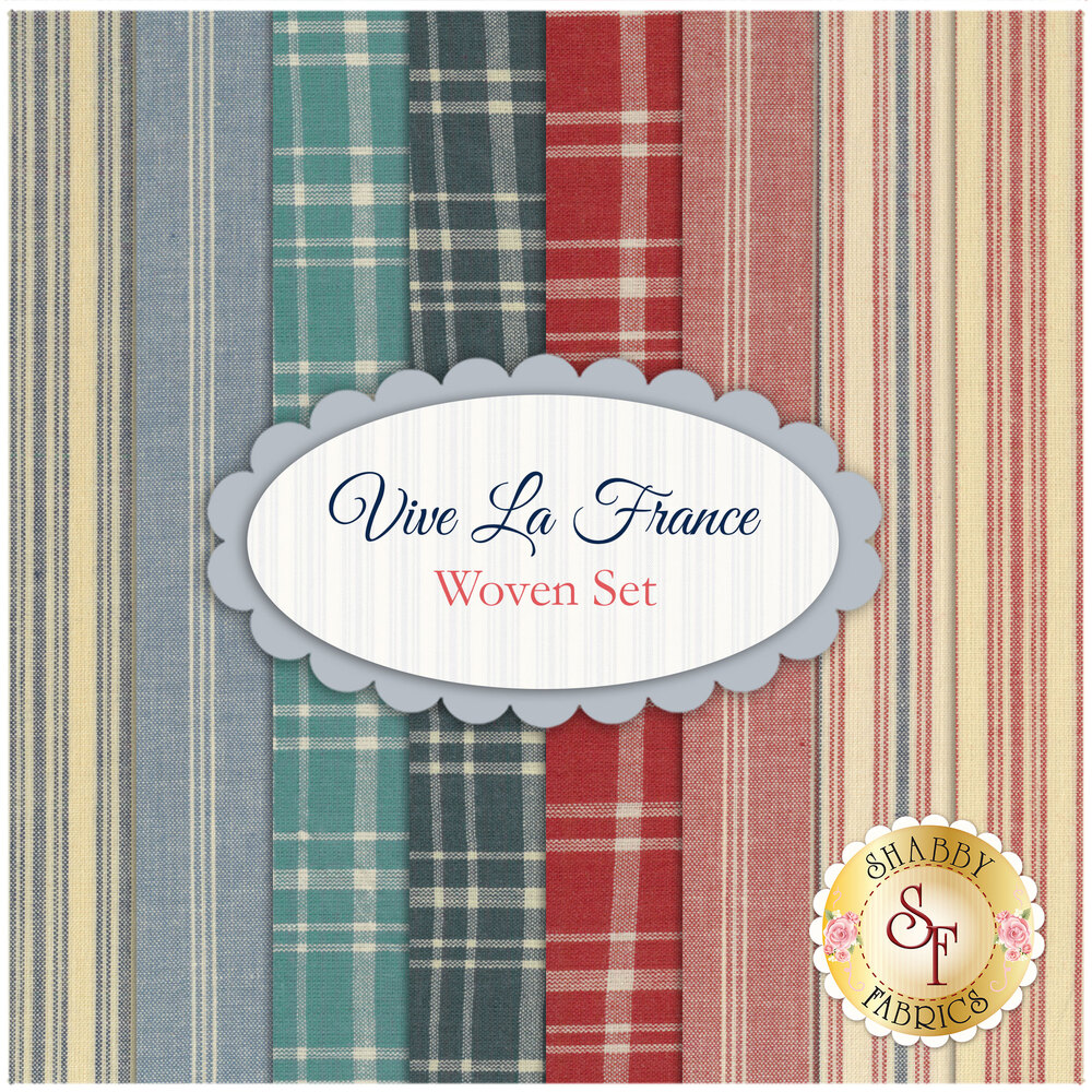 Vive La France  8 FQ Woven Set by French General for Moda Fabrics