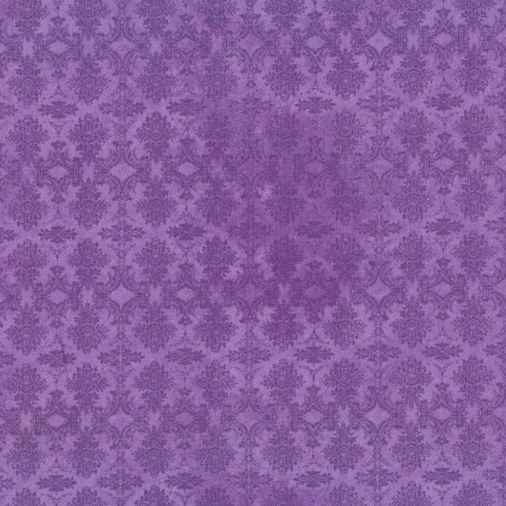 tonal print on a purple background   Shabby Fabrics