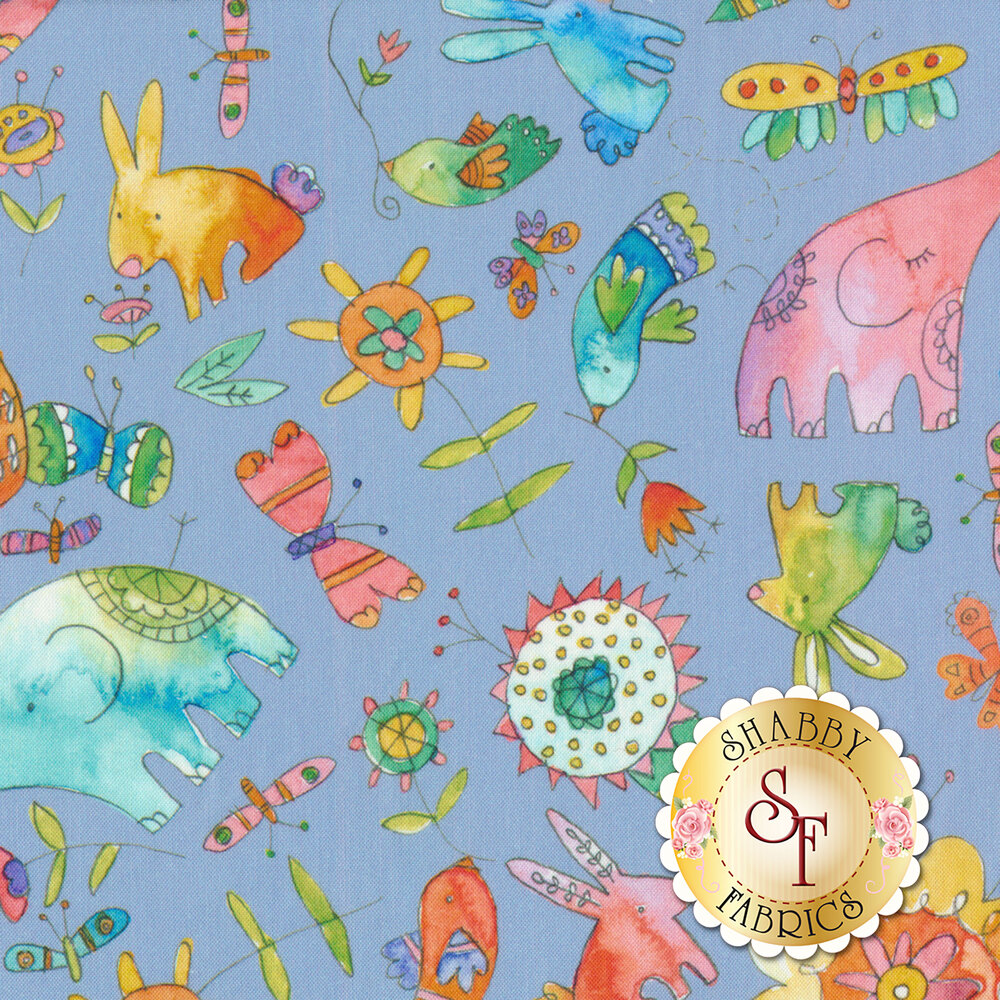 Waltz Of Whimsy 113.115.01.2 Love Big Periwinkle from Blend Fabrics by Ana Davis