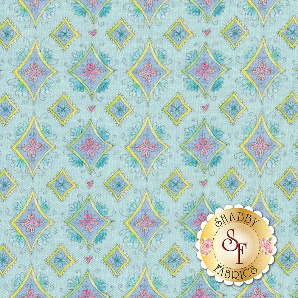 Waltz Of Whimsy 113.115.04.2 Pixie Aqua from Blend Fabrics by Ana Davis