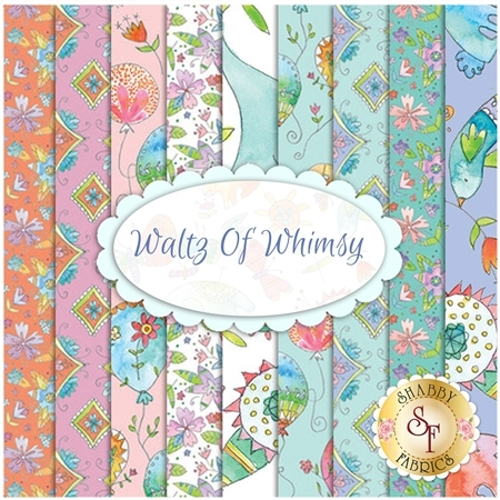 Waltz Of Whimsy  9 FQ Set by Blend Fabrics