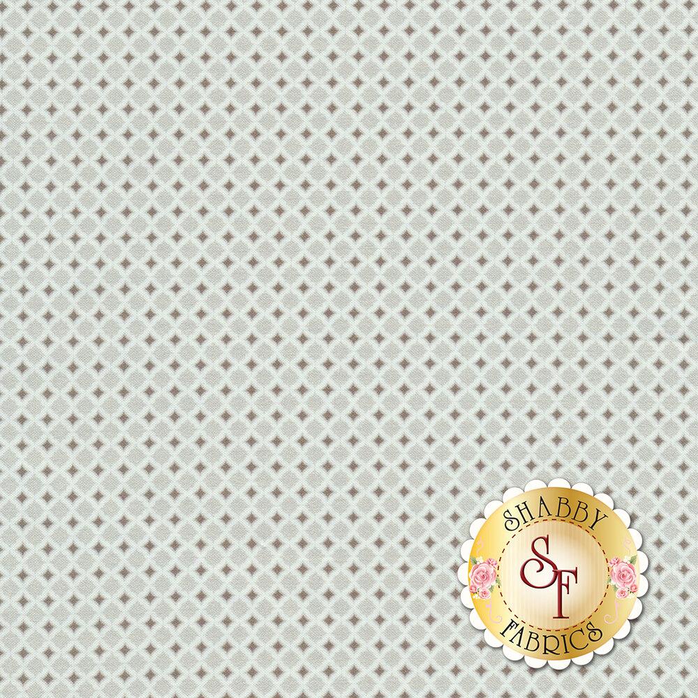 Geometric tonal gray diamond design | Shabby Fabrics