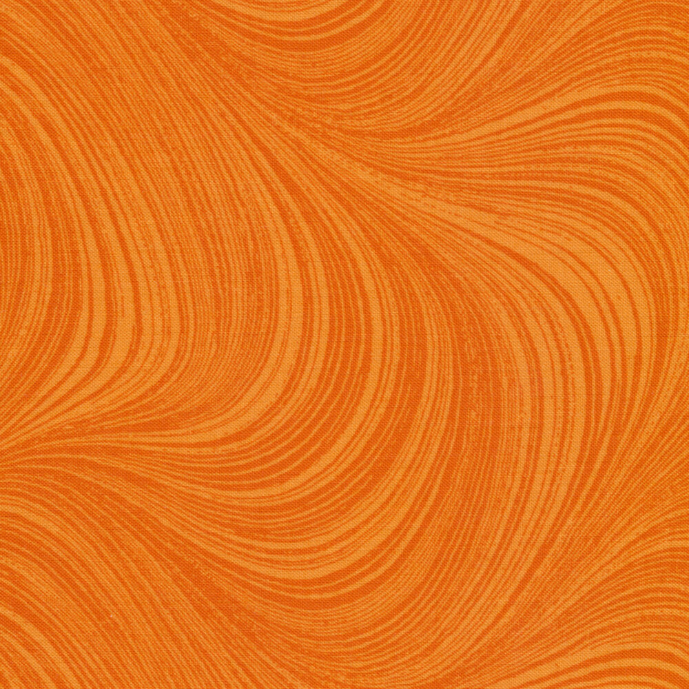 Wave Texture 2966-39 Tangerine by Jackie Robinson for Benartex Fabrics